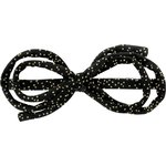 Barrette noeud arabesque noir pailleté - PPMC