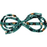 Arabesque bow hair slide jade panther - PPMC