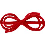 Barrette noeud arabesque rouge tangerine - PPMC