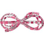 Barrette noeud arabesque violette rose - PPMC