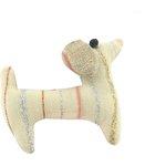 Pasador de pelo en forma de perro rayas rosa plata - PPMC