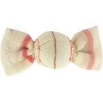 Mini sweet hairslide silver pink striped - PPMC