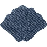Barrette coquillage jean fin - PPMC