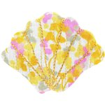 Shell hair-clips mimosa jaune rose - PPMC