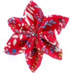 Star flower 4 hairslide cherry cornflower - PPMC