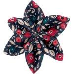 Barrette fleur étoile 4 camelias rubis - PPMC