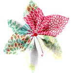 Star flower 4 hairslide powdered  dahlia - PPMC