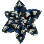 Star flower 4 hairslide parts blue night - PPMC