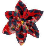 Star flower 4 hairslide vermilion foliage - PPMC