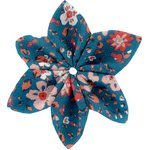 Star flower 4 hairslide fleuri nude ardoise - PPMC