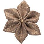 Barrette fleur étoile 4 lin or - PPMC