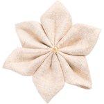 Pasador flor estrella lino brillo - PPMC