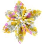 Barrette fleur étoile 4 mimosa jaune rose - PPMC
