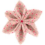 Star flower 4 hairslide mini pink flower - PPMC