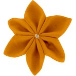 Star flower 4 hairslide ochre - PPMC