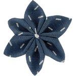 Pasador flor estrella jeans de paja plateados - PPMC