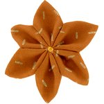 Star flower 4 hairslide caramel golden straw - PPMC