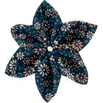 Star flower 4 hairslide marine daisy - PPMC