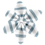 Star flower 4 hairslide striped blue gray glitter - PPMC