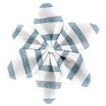Pasador flor estrella brillo azul gris a rayas - PPMC