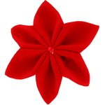 Star flower 4 hairslide tangerine red - PPMC