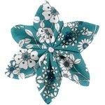 Star flower 4 hairslide celadon violette - PPMC