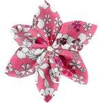 Barrette fleur étoile 4 violette rose - PPMC