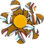 Fabrics flower hair clip cocoa pods - PPMC