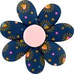 Barrette fleur marguerite  coeur scintillants - PPMC