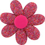 Fabrics flower hair clip currant crocus - PPMC