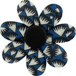Fabrics flower hair clip parts blue night - PPMC