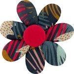 Barrette fleur marguerite feu d'artifice - PPMC