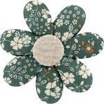 Barrette fleur marguerite fleuri kaki - PPMC