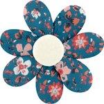 Fabrics flower hair clip fleuri nude ardoise - PPMC