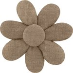 Fabrics flower hair clip gold linen - PPMC