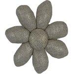 Fabrics flower hair clip  glitter linen - PPMC