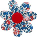Fabrics flower hair clip flowered london - PPMC