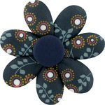 Fabrics flower hair clip fireflies - PPMC