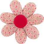 Fabrics flower hair clip mini pink flower - PPMC