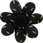 Fabrics flower hair clip golden straw - PPMC