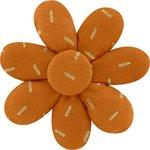 Barrette fleur marguerite paille dorée caramel - PPMC