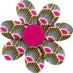 Fabrics flower hair clip palmette - PPMC