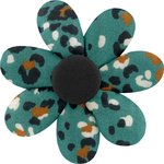 Fabrics flower hair clip jade panther - PPMC