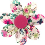 Fabrics flower hair clip spring - PPMC