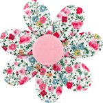Pasador flor margarita  rosario - PPMC