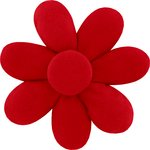 Fabrics flower hair clip  red - PPMC