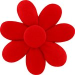 Fabrics flower hair clip tangerine red - PPMC