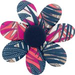Fabrics flower hair clip tropical fire - PPMC