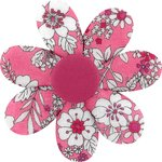 Fabrics flower hair clip pink violette - PPMC