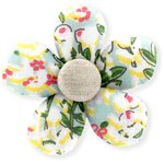 Mini flower hair slide menthol berry - PPMC